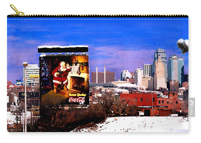 City Carry-all Pouch featuring the photograph Kansas City Skyline at Christmas by Steve Karol