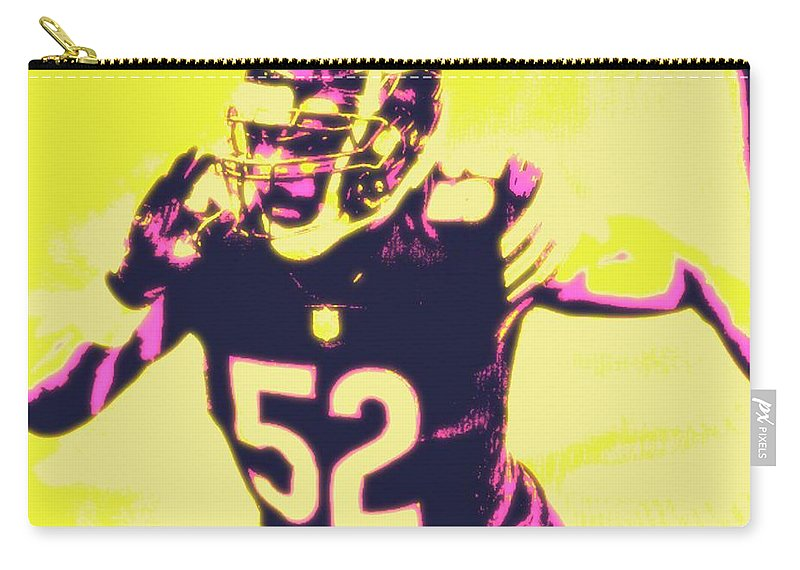 Khalil Carry-all Pouch featuring the painting Khalil Mack by Jack Bunds