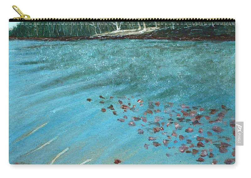 Calm Carry-all Pouch featuring the painting Lake by Anastasiya Malakhova