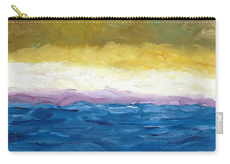Abstract Landscape Carry-all Pouch featuring the painting Lake Michigan Dunes Study by Michelle Calkins