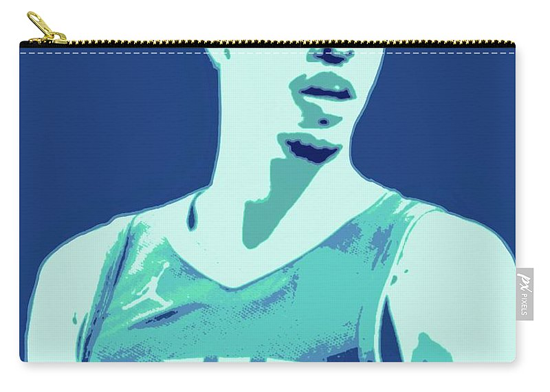 Lamelo Carry-all Pouch featuring the painting LaMelo Ball by Jack Bunds