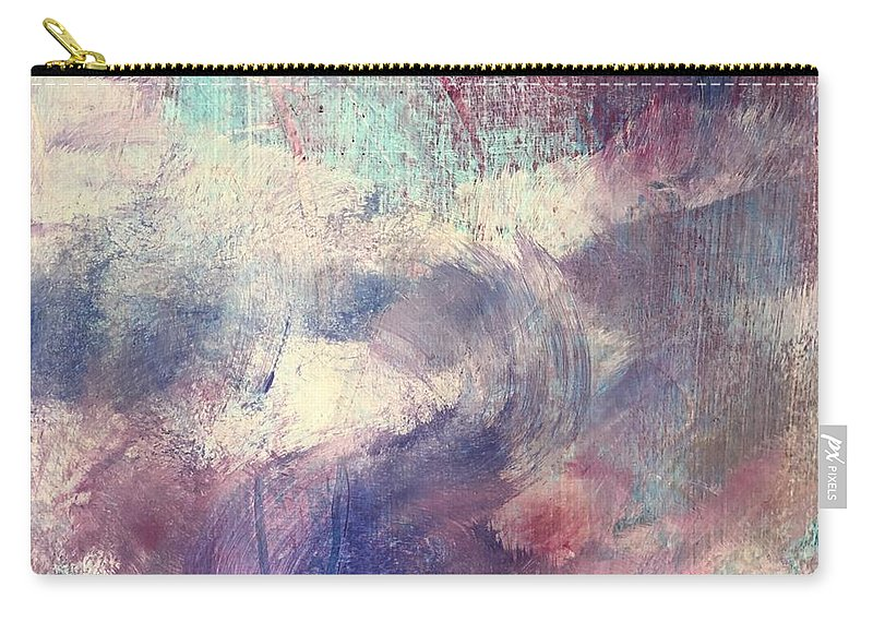 Abstract Carry-all Pouch featuring the painting Lavender Fields by Carolyn Rhinebarger