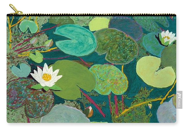 Landscape Carry-all Pouch featuring the painting Lazy Pond by Allan P Friedlander