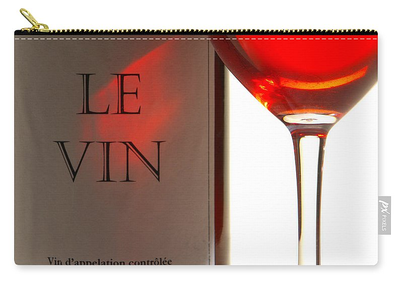 French Carry-all Pouch featuring the photograph Le Vin by Olivier Le Queinec