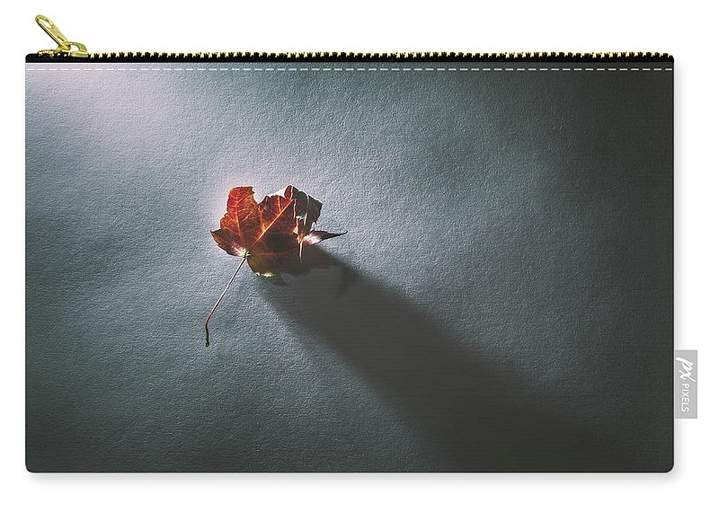 Leaf Carry-all Pouch featuring the photograph Leaf And Shadow by Scott Norris