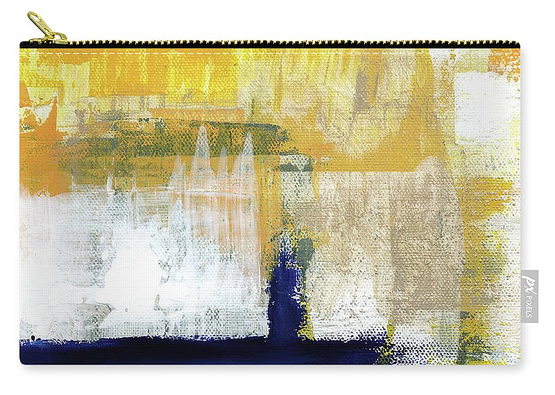 Abstract Carry-all Pouch featuring the painting Light Of Day 4 by Linda Woods