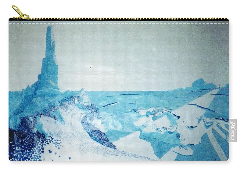 Landscape Carry-all Pouch featuring the painting Line of Sight by A Robert Malcom
