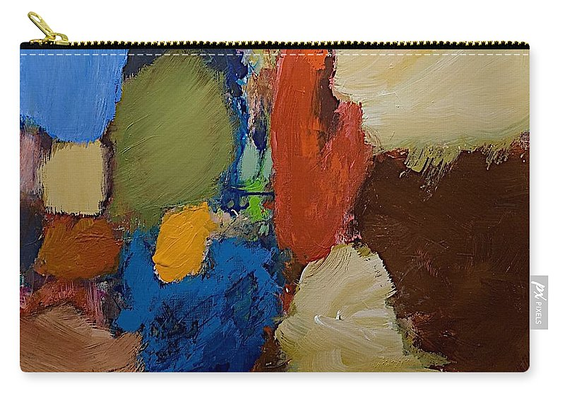 Landscape Carry-all Pouch featuring the painting Living Depths by Allan P Friedlander