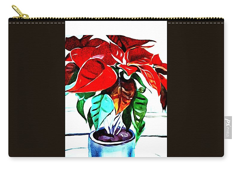 Still Life Carry-all Pouch featuring the painting Living Flower by Andrew Johnson
