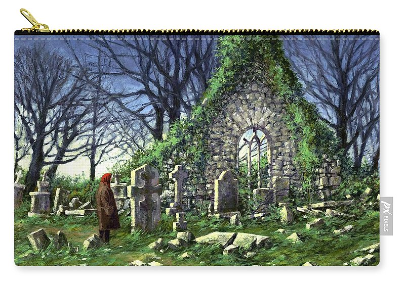 Landscape Carry-all Pouch featuring the painting Londonderry Stones by Jim Gola