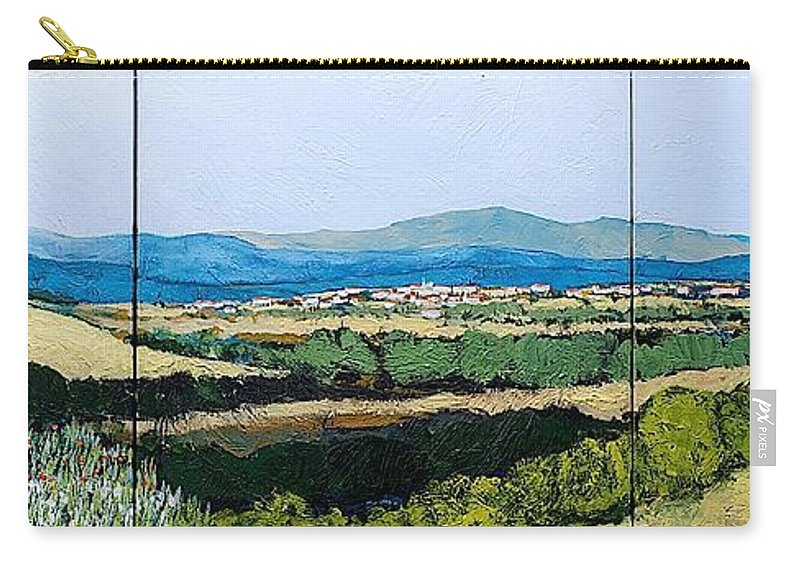 Landscape Carry-all Pouch featuring the painting Long Get Away by Allan P Friedlander