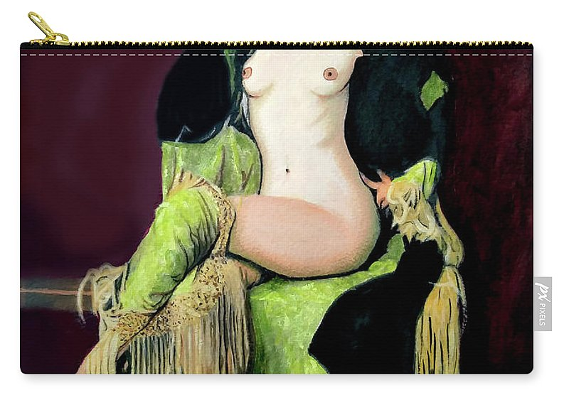 Women Carry-all Pouch featuring the painting Looking Good by Jose Manuel Abraham