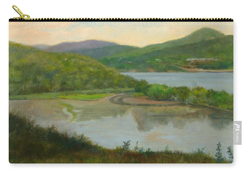 Landscape Carry-all Pouch featuring the painting Looking South From St. Basil by Phyllis Tarlow