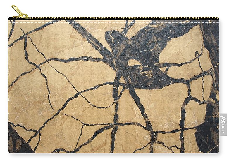 Abstract Carry-all Pouch featuring the painting Looking Up by Leah Tomaino
