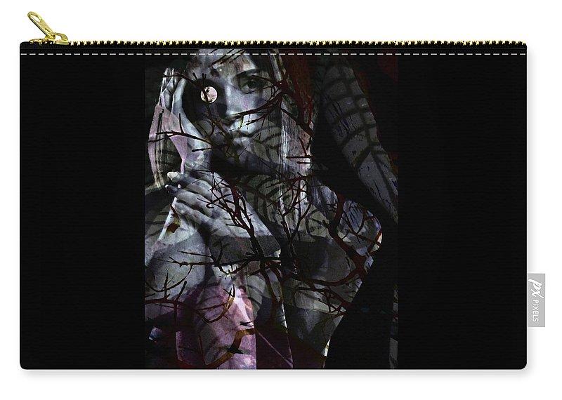 Woman Carry-all Pouch featuring the digital art Luna by Gunilla Munro Gyllenspetz