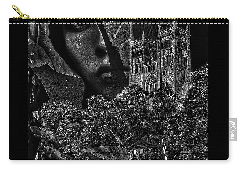 Surrealism Carry-all Pouch featuring the digital art Luna III by Gunilla Munro Gyllenspetz
