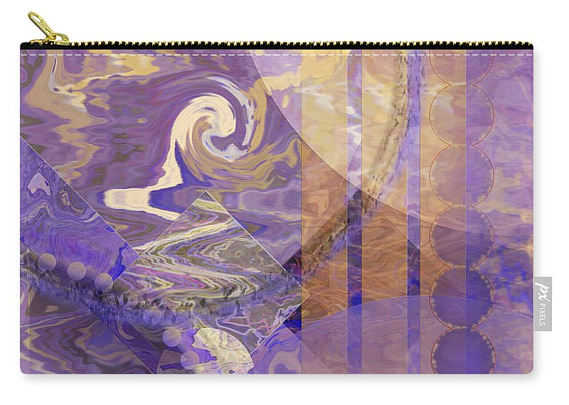 Lunar Impressions Carry-all Pouch featuring the digital art Lunar Impressions by John Robert Beck