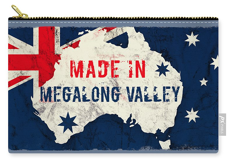 Megalong Valley Carry-all Pouch featuring the digital art Made In Megalong Valley, Australia #megalongvalley #australia by TintoDesigns