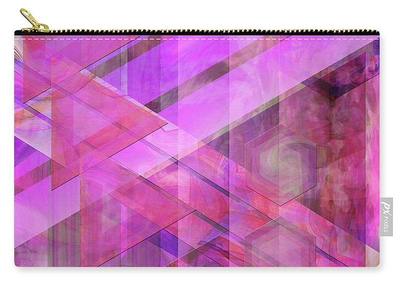 Magenta Haze Carry-all Pouch featuring the digital art Magenta Haze by John Robert Beck