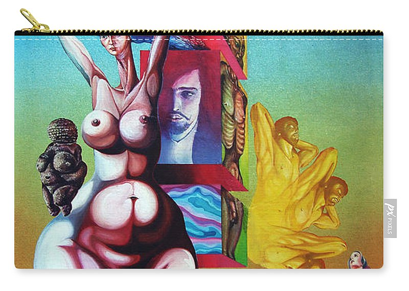 Surrealism Carry-all Pouch featuring the painting Magna Mater by Otto Rapp