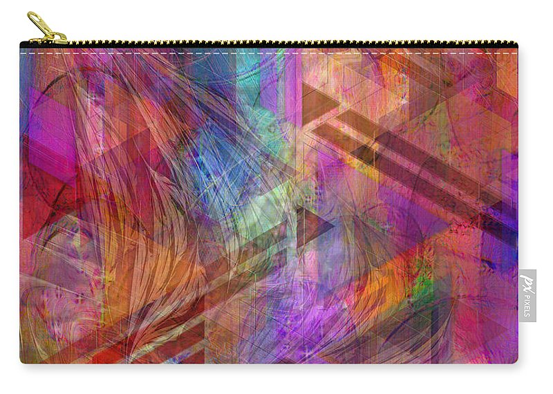 Magnetic Abstraction Carry-all Pouch featuring the digital art Magnetic Abstraction by John Robert Beck