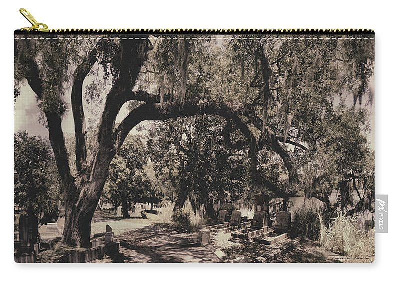Castle Carry-all Pouch featuring the photograph Magnolia Cemetery by James Christopher Hill