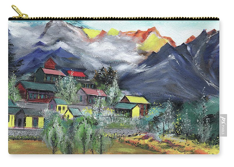 Nature Carry-all Pouch featuring the painting Manali New by Anil Nene