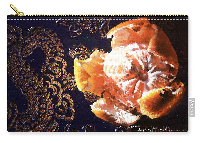 Mandarin Carry-all Pouch featuring the painting Mandarin by Dianna Ponting