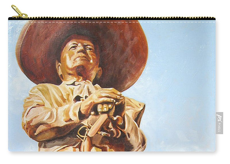 Mariachi Carry-all Pouch featuring the painting Mariachi by Laura Pierre-Louis