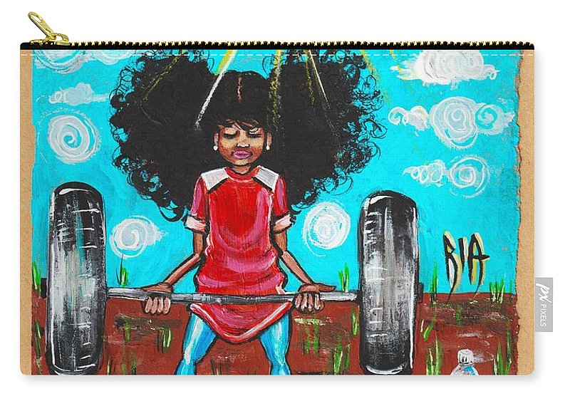 Jehovah Carry-all Pouch featuring the painting Mark 10 vs 27 by Artist RiA