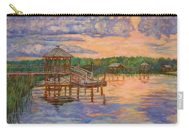 Landscape Carry-all Pouch featuring the painting Marsh View at Pawleys Island by Kendall Kessler