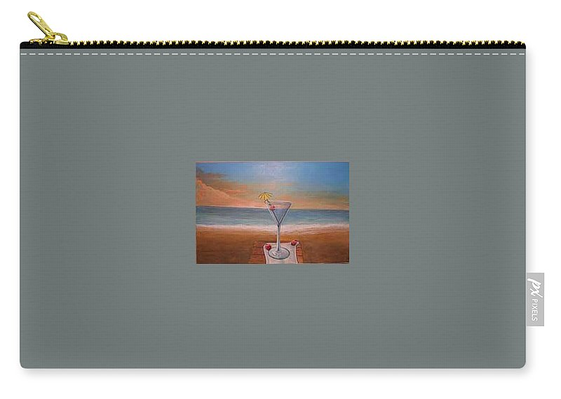 Rick Huotari Carry-all Pouch featuring the painting Martini In Door County by Rick Huotari