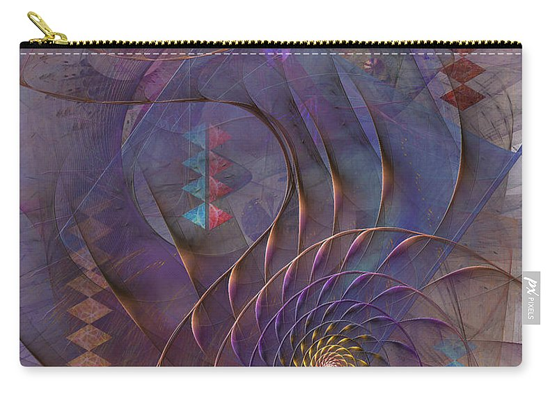 Meandering Acquiescence Carry-all Pouch featuring the digital art Meandering Acquiescence by John Robert Beck