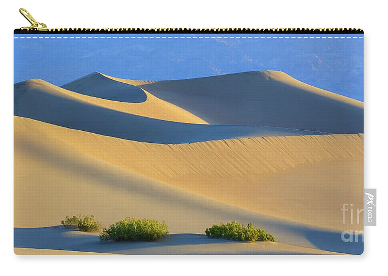 Bush Carry-all Pouch featuring the photograph Mesquite Flat Sand Dunes In Death Valley National Park by Henk Meijer Photography