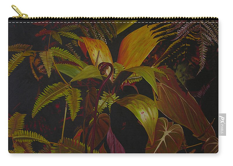 Plant Carry-all Pouch featuring the painting Midnight in the garden by Thu Nguyen