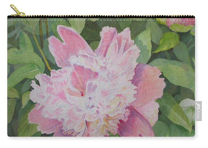 Peony Carry-all Pouch featuring the painting Mimis Delight by Mary Ellen Mueller Legault