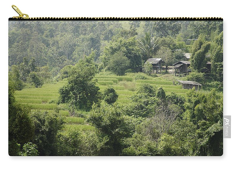 3scape Carry-all Pouch featuring the photograph Misty Mountain Village by Adam Romanowicz