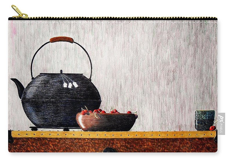 Still Life Carry-all Pouch featuring the painting Mixed Relations by A Robert Malcom