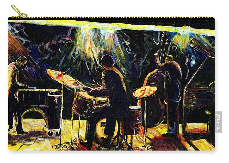 Everett Spruill Carry-all Pouch featuring the painting Modern Jazz Quartet take2 by Everett Spruill