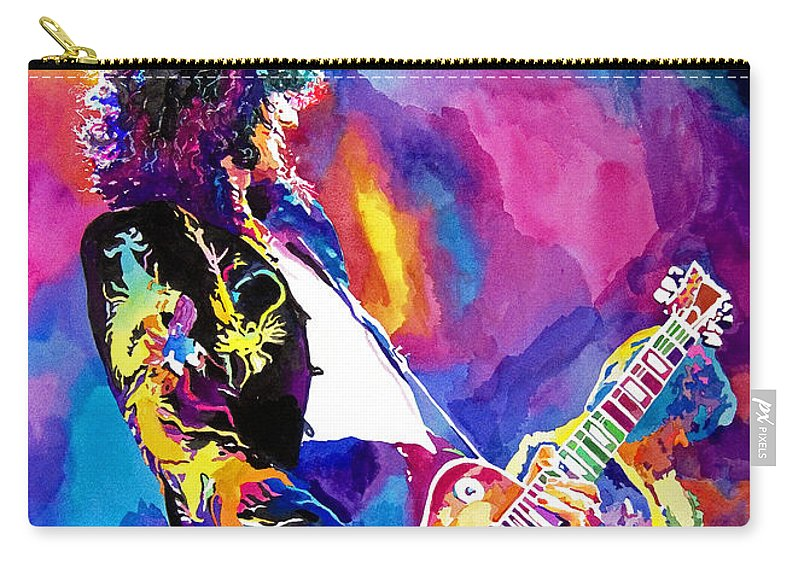Jimmy Page Artwork Carry-all Pouch featuring the painting Monolithic Riff - Jimmy Page by David Lloyd Glover