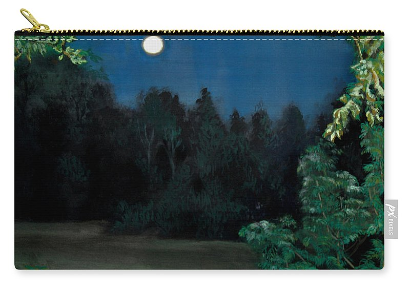 Moon Carry-all Pouch featuring the painting Moon Shadow by Susan Moore