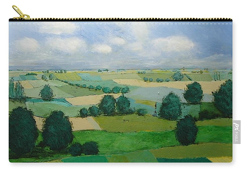 Landscape Carry-all Pouch featuring the painting Morning Calm by Allan P Friedlander