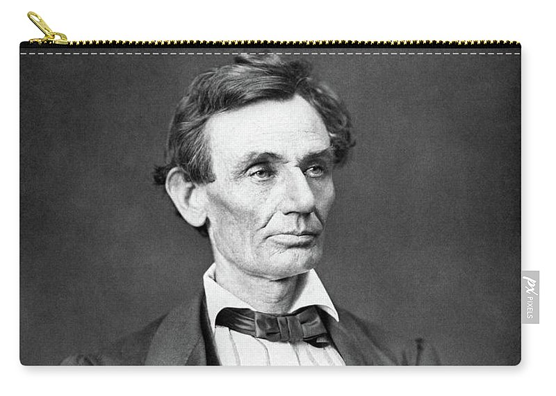 Abraham Lincoln Carry-all Pouch featuring the photograph Mr. Lincoln by War Is Hell Store