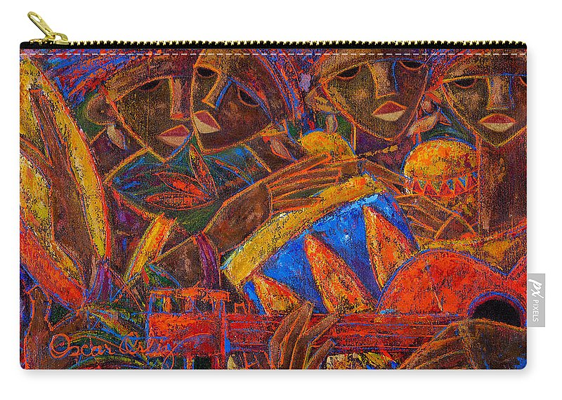 Puerto Rico Carry-all Pouch featuring the painting Musas Del Caribe by Oscar Ortiz