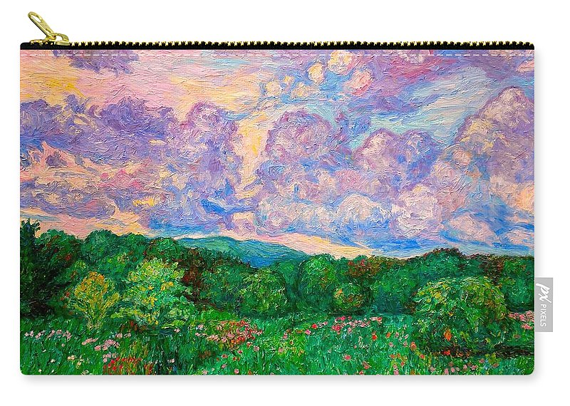Landscape Carry-all Pouch featuring the painting Mushroom Clouds by Kendall Kessler