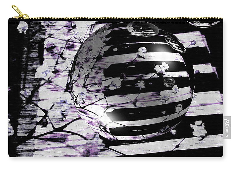Piano Art Carry-all Pouch featuring the photograph Music World by Linda Sannuti