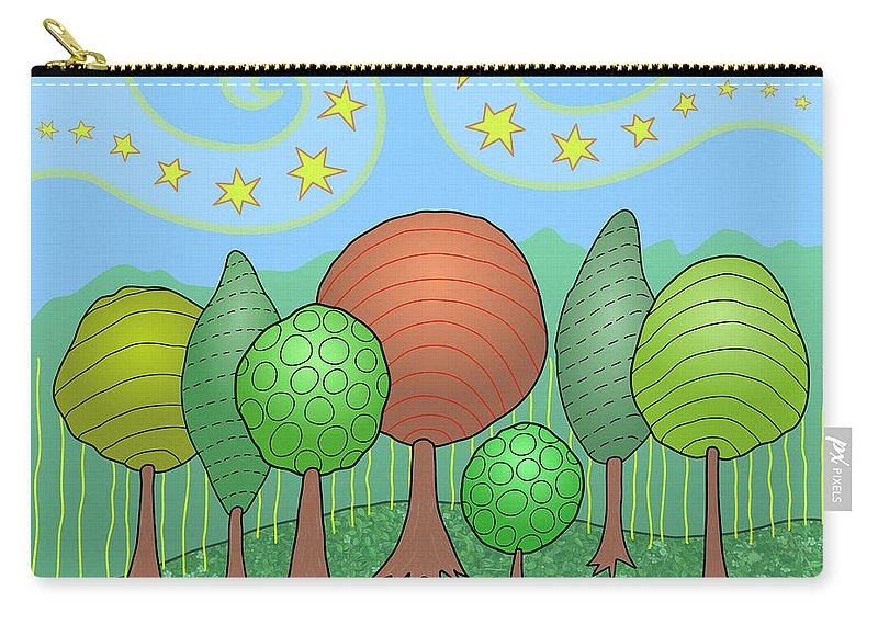 Family Carry-all Pouch featuring the digital art My Family by Susan Bird Artwork