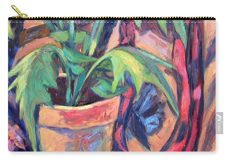 Plant Carry-all Pouch featuring the painting My Old Shoe by Kendall Kessler
