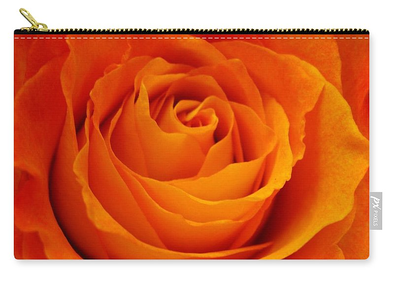 Rose Carry-all Pouch featuring the photograph Mystic Rose by Rhonda Barrett