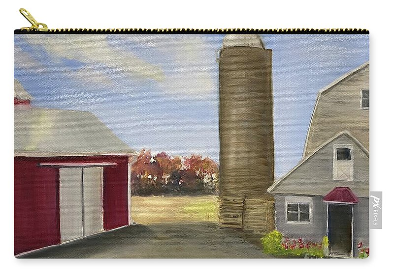 Plein Aire Carry-all Pouch featuring the painting Nancys Farm by Sheila Mashaw